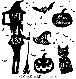 Halloween Symbol Elements