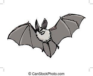halloween,  symbol, fledermaus,  zoo, abbildung, Nacht, Tierwelt,  Horror
