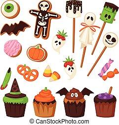 Halloween symbols vector collection. - Halloween symbols...