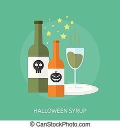 Halloween Syrup Conceptual illustration Design
