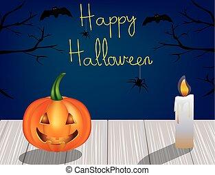 halloween táj