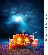 halloween, tarde, plano de fondo