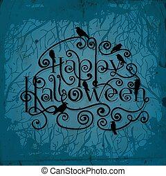 halloween, tarjeta
