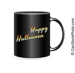 halloween, taza