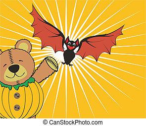 halloween teddy background4 - halloween teddy background in...