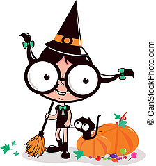 Halloween teenage witch