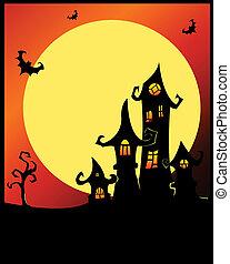 halloween, terrible, castle.