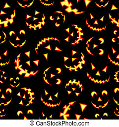 Halloween terror background pattern - Halloween horror...