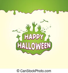 Halloween Text In Slime