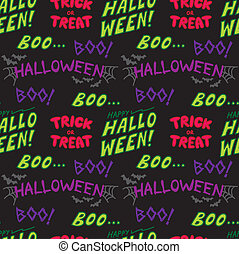 halloween text pattern
