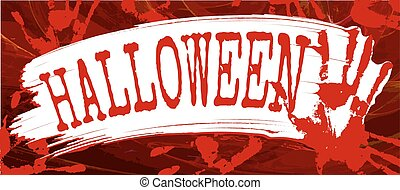 Halloween text, vector illustration