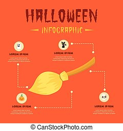 Halloween Theme Infographic Design Collection