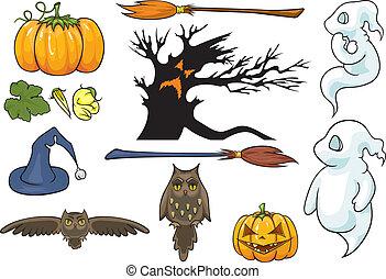 Halloween theme set.