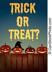 Halloween theme with jack-o-lantern