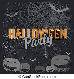 Halloween themed party flyer