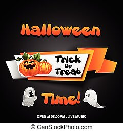Halloween time Banner