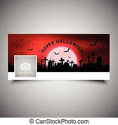 halloween, timeline, cubierta, diseño, 2609