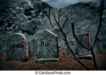 halloween, tombes