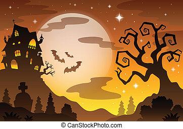 Halloween topic background 2