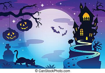 Halloween topic background 3