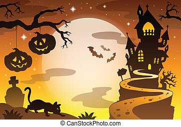 Halloween topic background 4