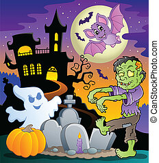 Halloween topic scene 1