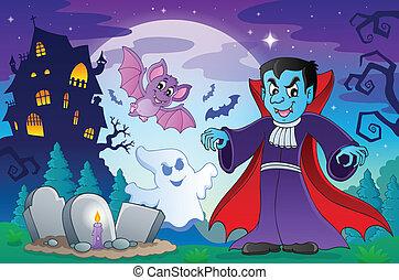 Halloween topic scene 4
