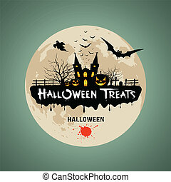 Halloween treats message design