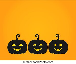 halloween, tres, backgrop, linternas, calabaza anaranjada,...