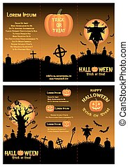 halloween tri-fold brochure