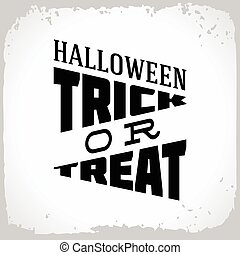 Halloween trick or treat.