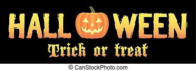 Halloween trick or treat logo