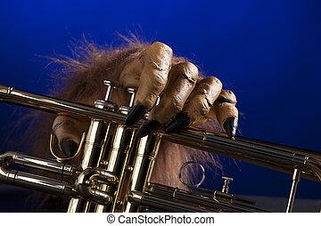 Halloween Trumpet Monster Hand