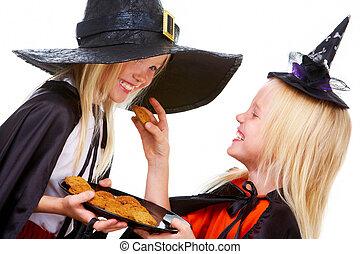 halloween, tweeling