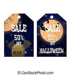 Halloween two sides poster, flyer or menu design.