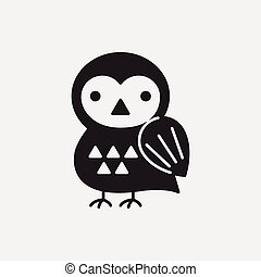 halloween, uccello, icona