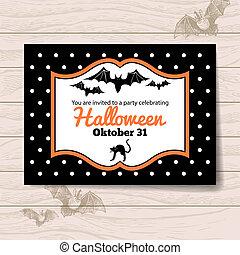 halloween, uitnodiging
