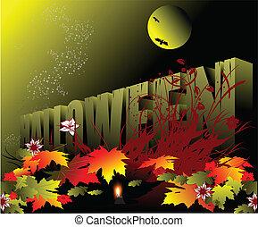 halloween, vacances, célébré, -