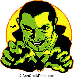 Halloween Vampire Clip Art Graphic