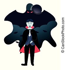 Halloween vampire Dracula