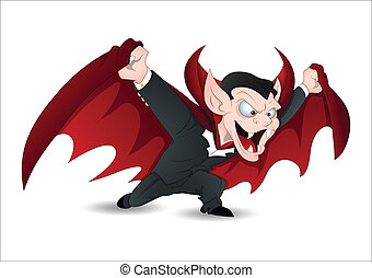 Creative Conceptual Design Art of Isolated on White Funny Vampire Vector for Halloween