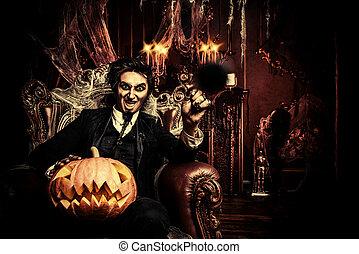 halloween vampire man