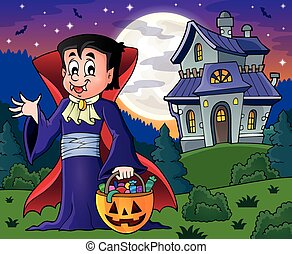 Halloween vampire theme