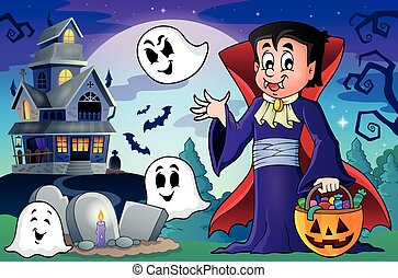 Halloween vampire theme image 5