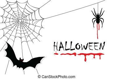 halloween, vampyrer, kuslig