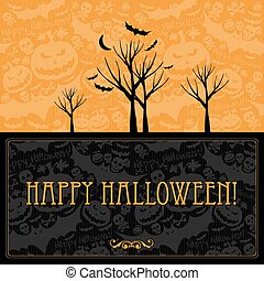 Halloween vector card or background