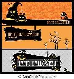 Halloween vector card or banner