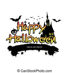 Halloween Vector Design Background.