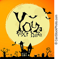 Halloween - Vector halloween background for posters and...