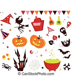 Halloween vector Icons set III - Halloween vector icons in...